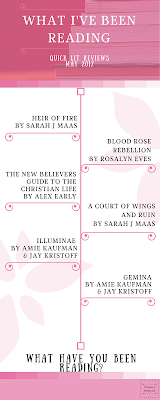 What I've been Reading: A Collection of quick book reviews from a variety of genres