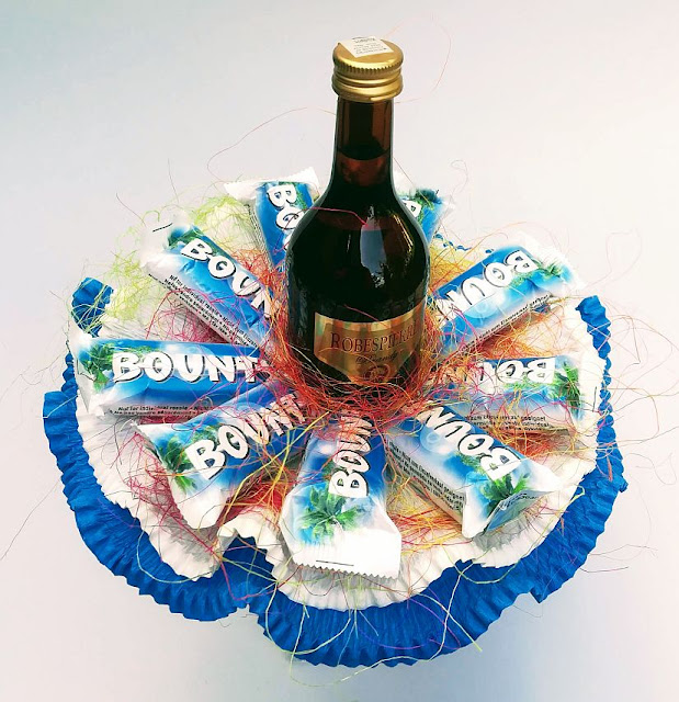 Bukiet z cukierków z alkoholem