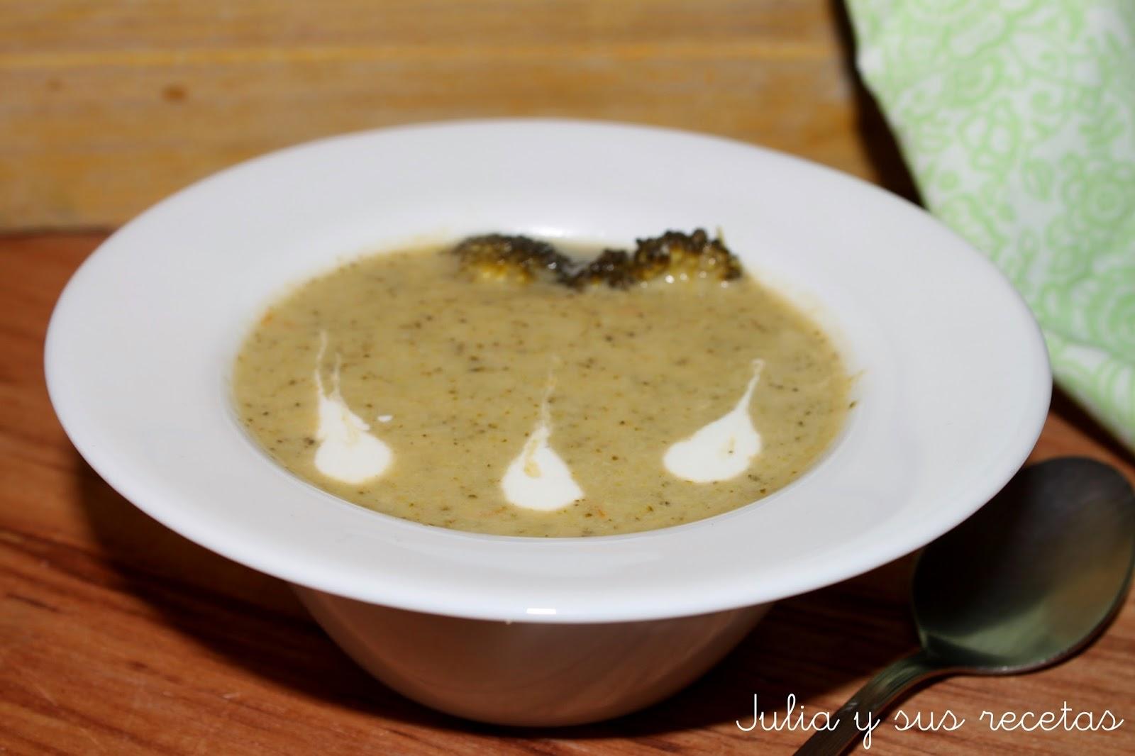 Crema de brócoli. Julia y sus recetas