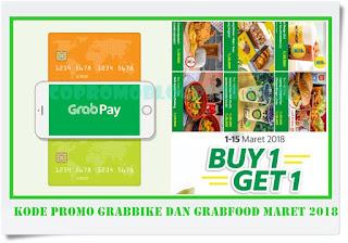 Kode Promo GrabBike dan GrabFood Maret 2018