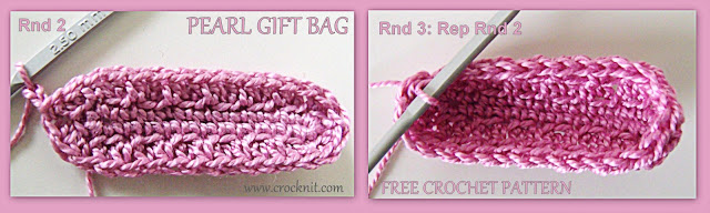 how to crochet, gift bags, free crochet patterns, photo tutural, drawstring