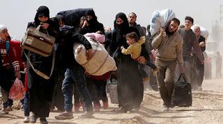 l'exode de la Ghouta orientale