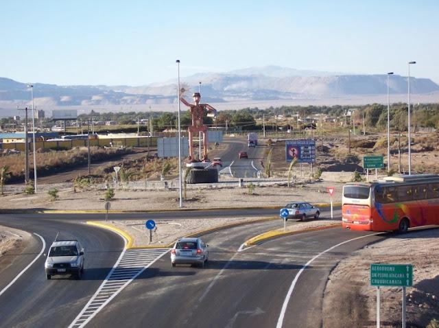 Entrada de Calama, no Chile