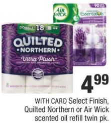 cvs deal Air Wick scented oil refill twin pk,Select Finish, Quilted northern