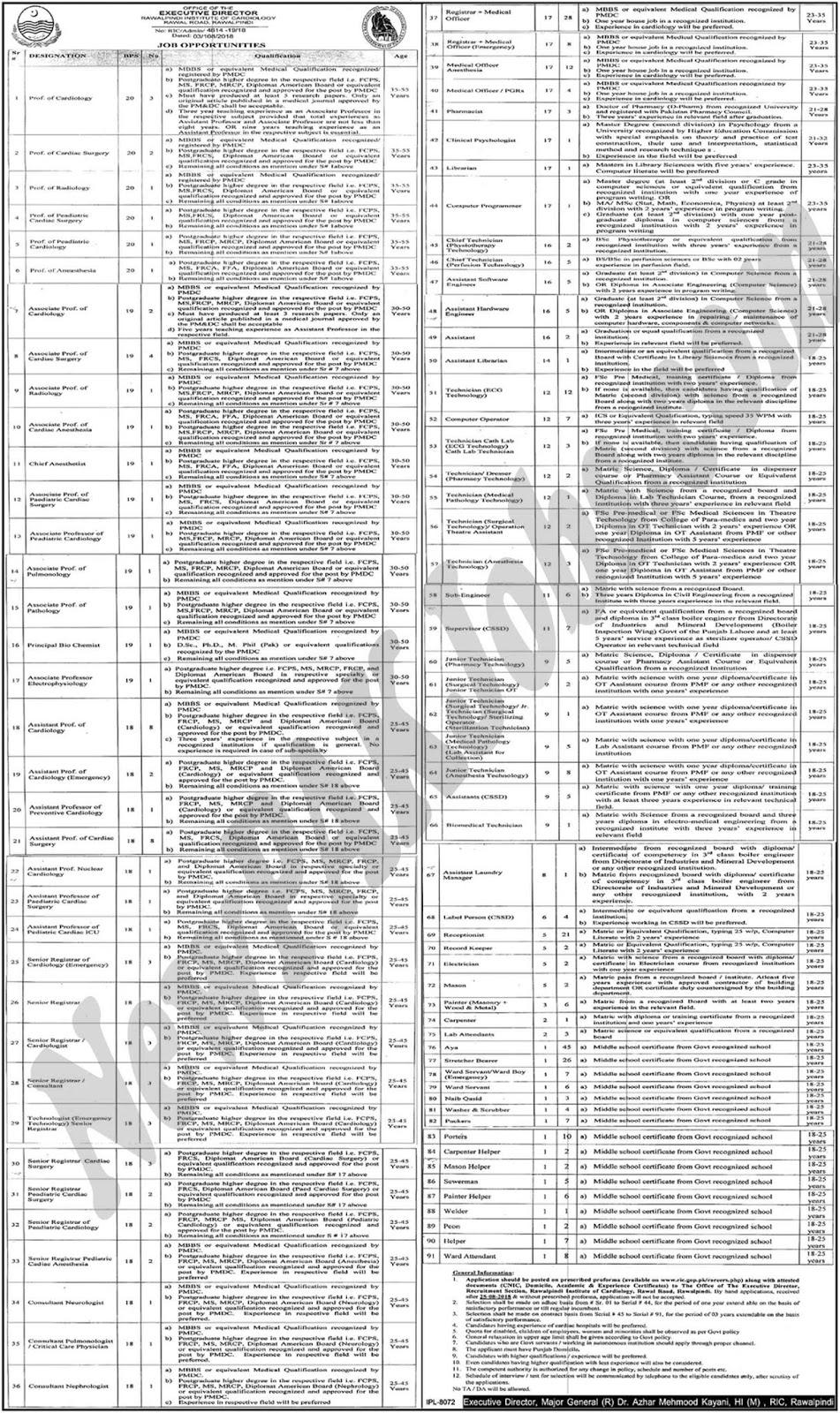 Rawalpindi Institute Of Cardiology RIC