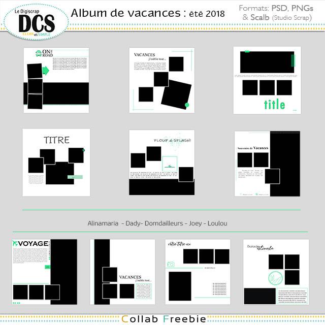 DCS : un album pour les vacances : été 2018