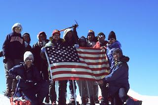 Dane's climbing team successfully at the top of Mt Ararat with climbing Guides