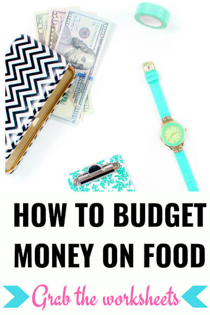 How to budget Money on food. This is the only money saving worksheets you need.