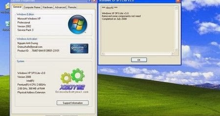 Free download links: windows xp sp3 kamaleon dark green 2008.