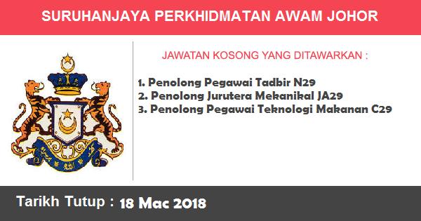 Jawatan Kosong di Suruhanjaya Perkhidmatan Awam Johor (SPAJ)