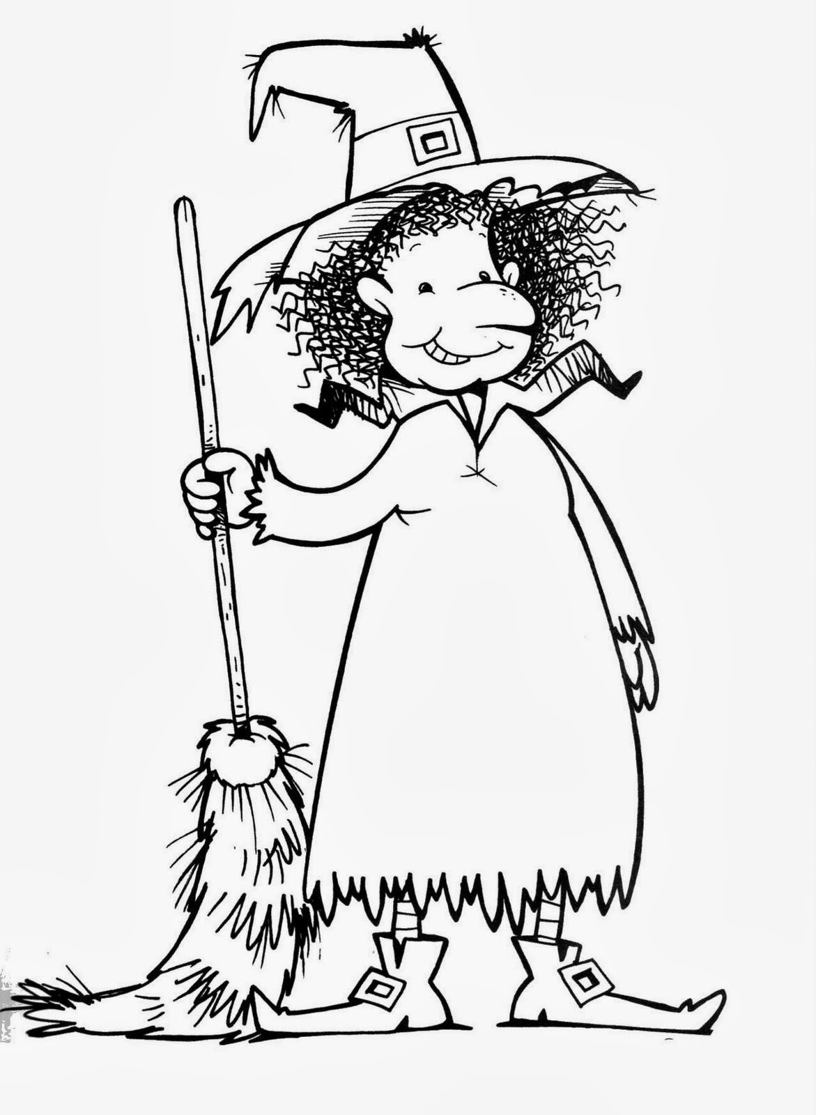 ImagesList.com: Halloween Witches for Coloring, part 4