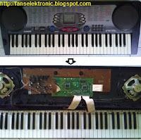 cara mengatasi keyboard casio rusak