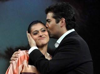 bollywood actress Kajol and film director Karan Johar