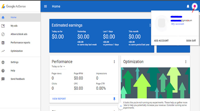 Non-Hosted adsense account