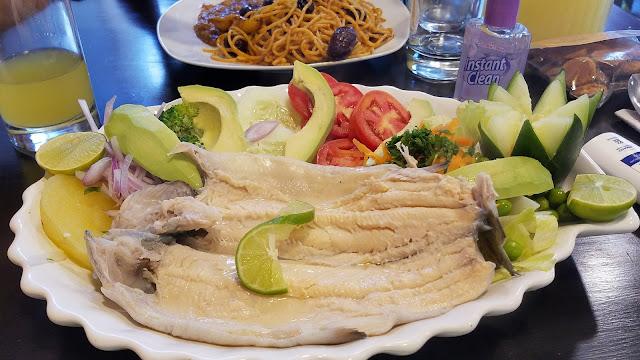 comer lunahuana peru saudável Runa Huanac truta