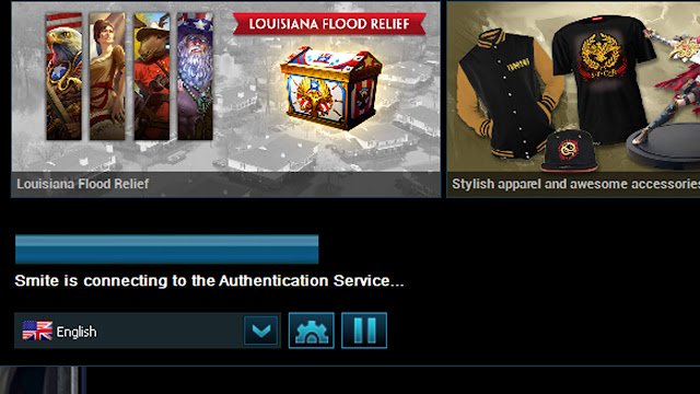 My Smite is connecting to the Authentication Service... Problem Is Finally Fixed