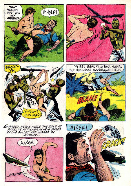 Korak Son of Tarzan v1 #10 gold key silver age 1960s comic book page art by Russ Manning