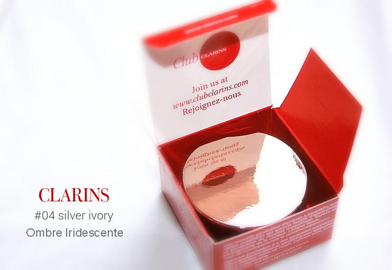 Отзыв: Весенняя коллекция CLARINS Eclat Instantane. Мерцающие тени для век Ombre Iridescente в оттенке #04 Silver Ivory.
