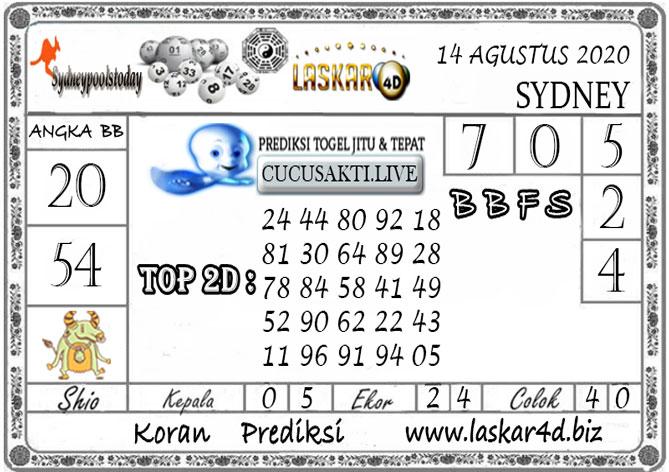 Prediksi Togel SYDNEY LASKAR4D 14 AGUSTUS 2020