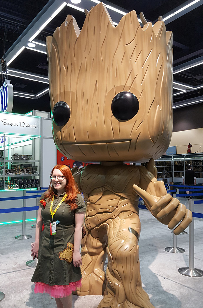 Kaylee Frye inspired Dress at ECCC with Groot