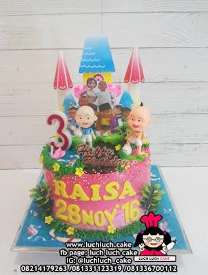 Kue Tart Upin dan Ipin Untuk Anak Cewek