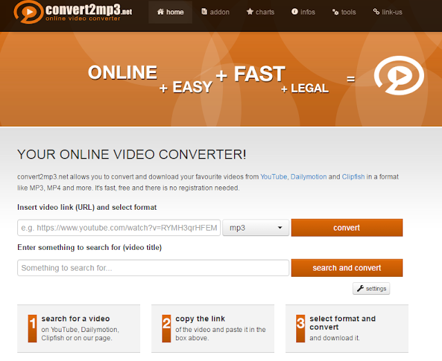 Online Video YouTube Downloader convert2mp3.net