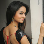 Shanvi hot pictures in black transparent saree
