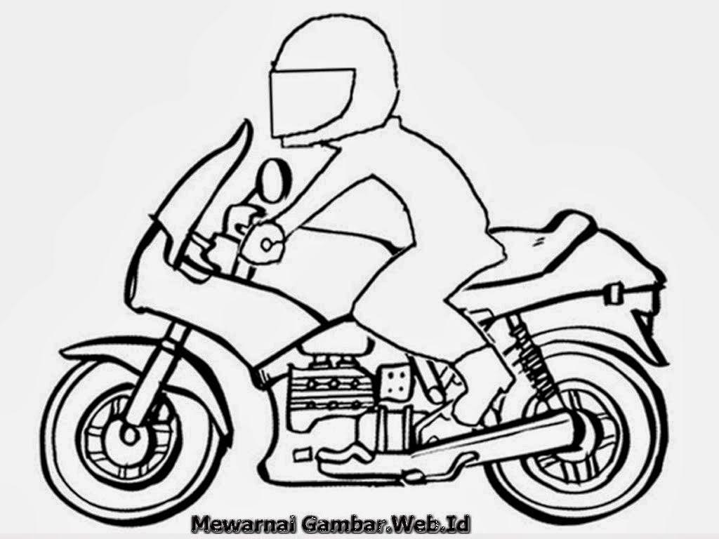Gambar Orang Naik Sepeda Motor Kartun Galeriotto
