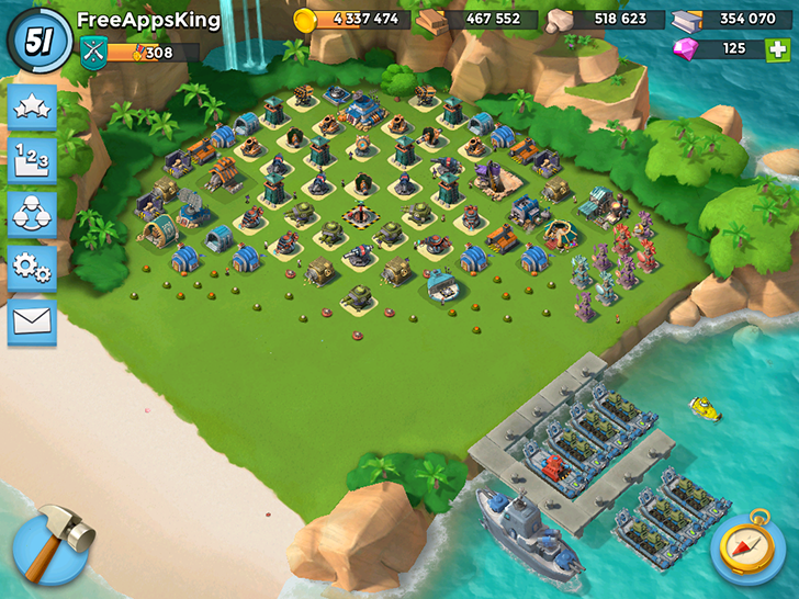 Boom Beach Village Level 51 FreeAppsKing