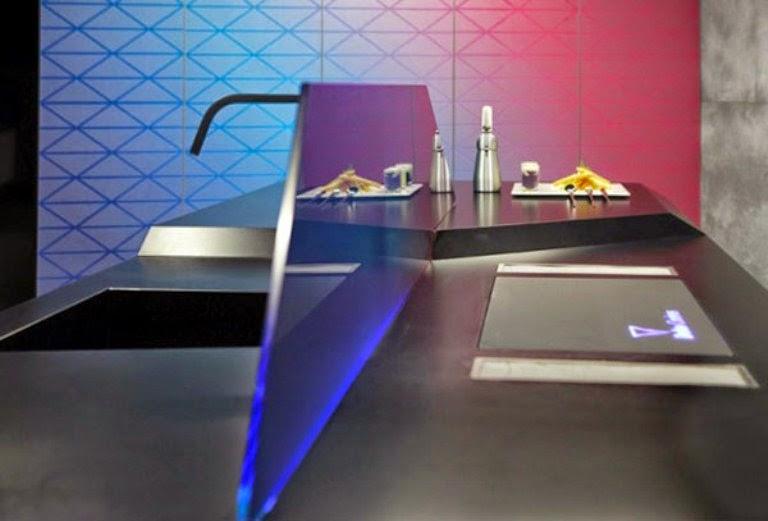 diseño cocina futurista