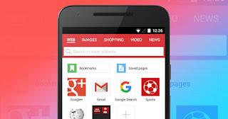Opera mini merupakan browser android teringan