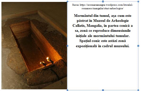 Mormantul cu papirus din incinta Muzeului de Istorie Callatis