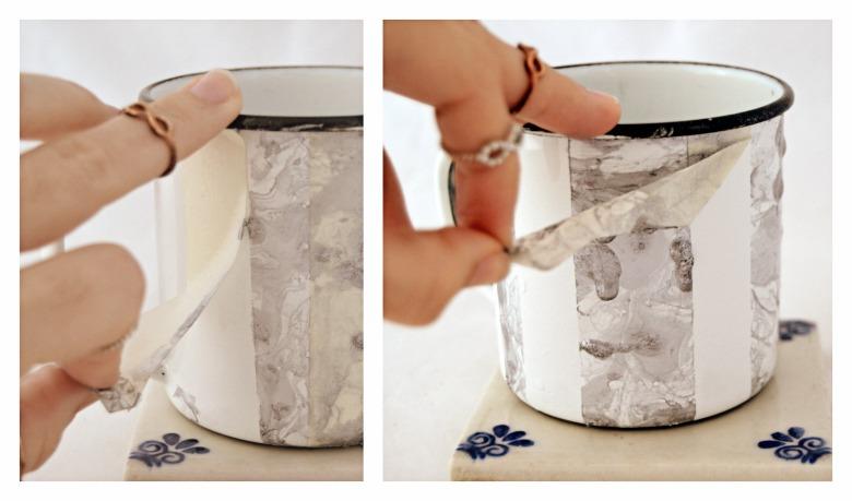 diy basico en el que veremos como decorar una taza esmaltada con pinta uñas