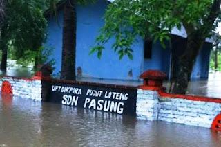 Banjir, SDN Pasung Lumpuh Total
