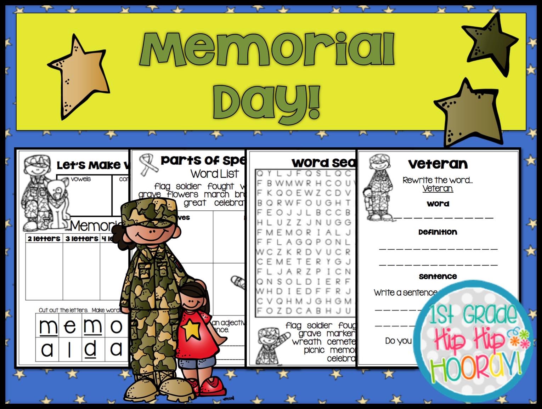 1st Grade Hip Hip Hooray Memorial Day
