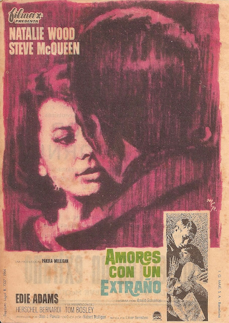 Programa de Cine - Amores con un Extraño - Steve McQueen - Natalie Wood