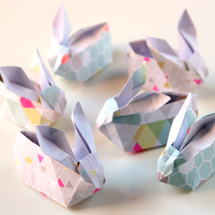 Diy Origami Easter Bunny Baskets