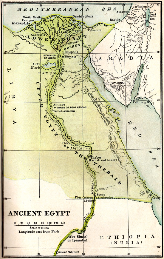 map ancient egypt 1