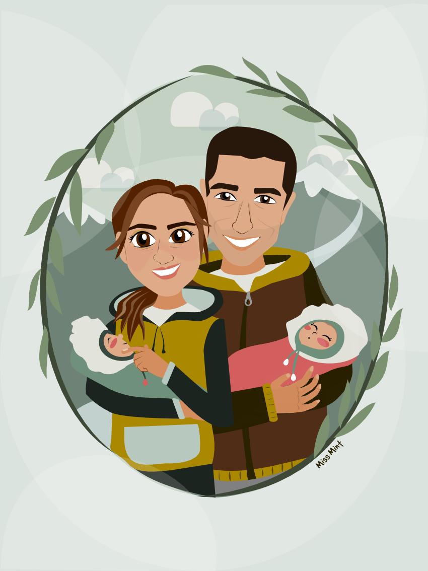 ilustraciones personalizadas regalos personalizados miss mint