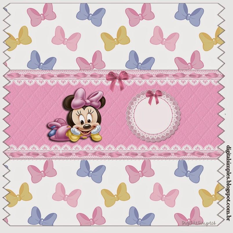 Etiquetas de Minnie Bebé para imprimir gratis