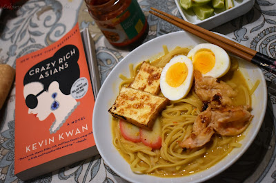 'Around the Spice Rack' Laksa Noodle Soup #CooktheBooks