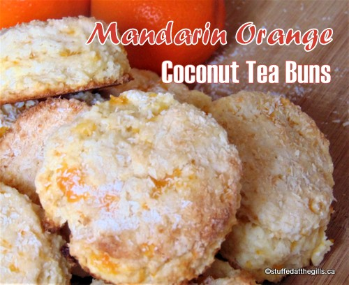 Mandarin Orange Coconut Tea Buns