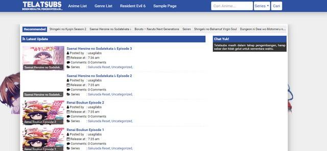 Telatsubs Anime Fansub Responsive Wordpress Themes