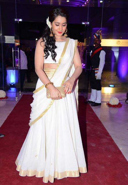 Raashi Khanna in Off White Traditional Lehenga by Shilpa Reddy