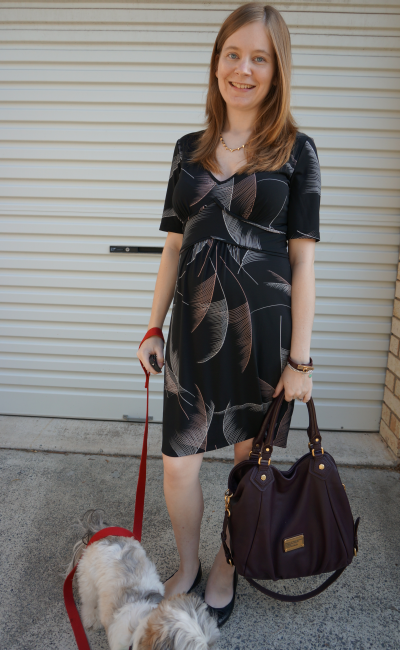 away from blue pregnant australian blogger leona edmiston dress fran bag