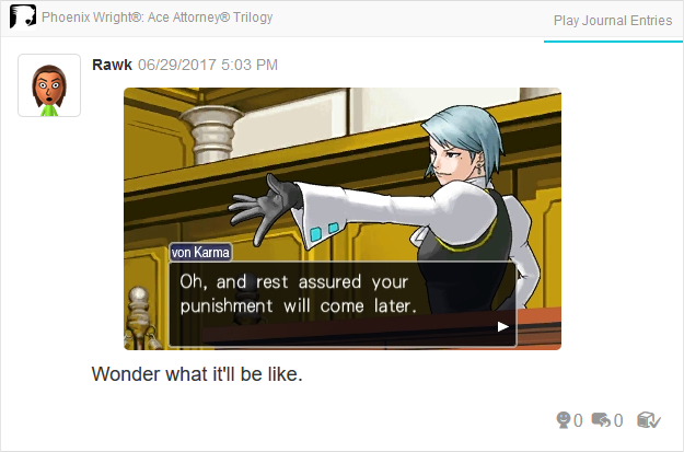 Phoenix Wright Ace Attorney Justice For All Franziska von Karma punishment will come