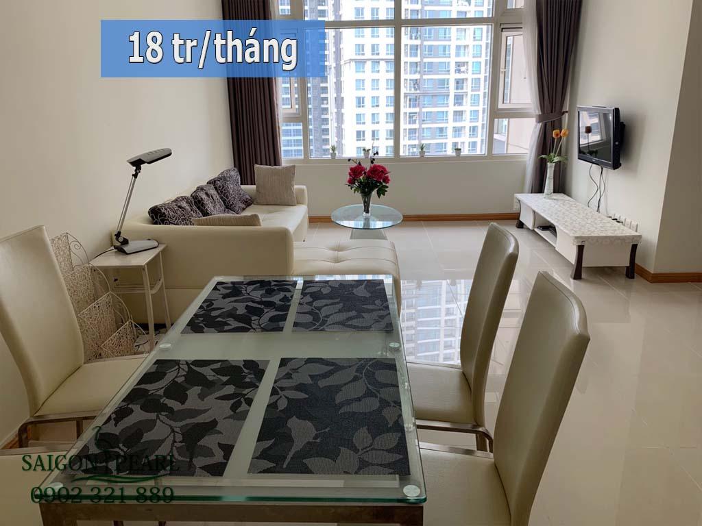 Căn hộ cho thuê 2PN Saigon Pearl Ruby 1 view sông full nt