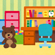 子供部屋のイラスト(室内風景)
