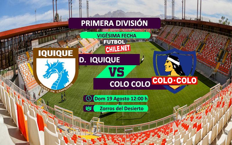 Mira Deportes Iquique vs Colo Colo en vivo y online por la Primera División Chile