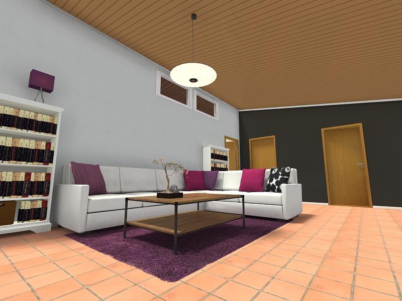 Farbgestaltung Wohnzimmer Terracotta